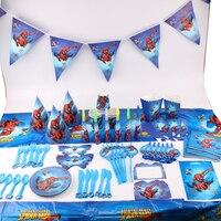 135 cái/lốc Spiderman Trẻ Em Birthday Party Decorations Kids Evnent Nguồn Cung Cấp Bên Sinh Nhật Bộ Đồ Ăn Sets Ủng Hộ Đảng