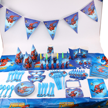 135pcs/lot Spiderman Children Birthday Party Decorations Kids Evnent Party Supplies Birthday Tableware Sets Party Favors