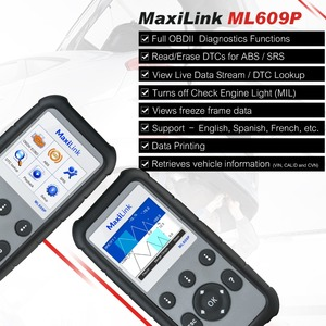 Image 4 - Autel Maxilink ML609P Auto Diagnostic Tool Code Reader OBD2 Code Scan Tool Uitzicht Freeze Frame Data Diagnostic Tool Auto Scanner
