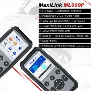 Image 4 - Autel maxilink ML609P自動診断ツールコードリーダーOBD2 コードスキャンツール表示フリーズフレームデータ診断ツール車スキャナ