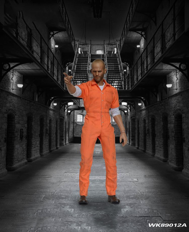 1//6 Prison Uniform For Dwayne Johnson The Fate of The Furious Muscular Hot Toys