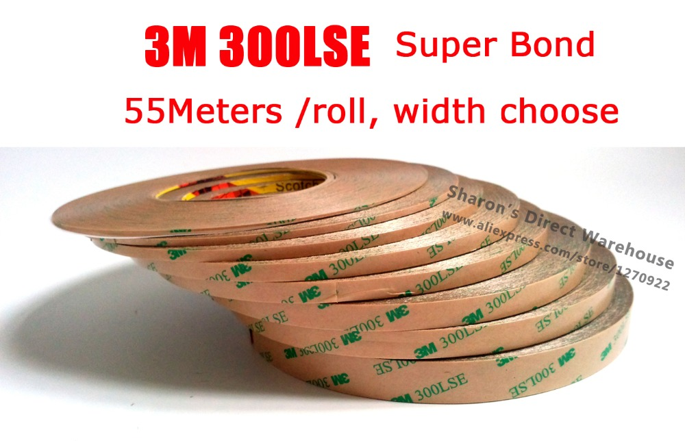 Original 3M High Bond 300LSE 9495LE Clear Double Adhesive Tape, Waterproof, For LCD Screen, Wig, Hair Extension, 1mm~15mm Choose