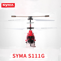 Original SYMA S111G 3.5CH military high simulation remote control helicopter equipped with gyroscope LED light drop helicopter