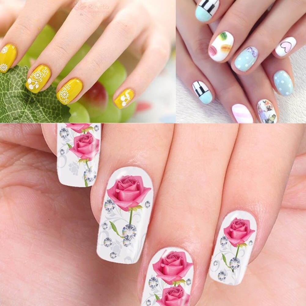 12 stücke Blätter Nail art Aufkleber DIY Fingernagel Make Up Design ...