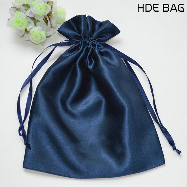Satin Drawstring Bags Jewelry Cosmetic Gift Wedding Party Storage Hair
