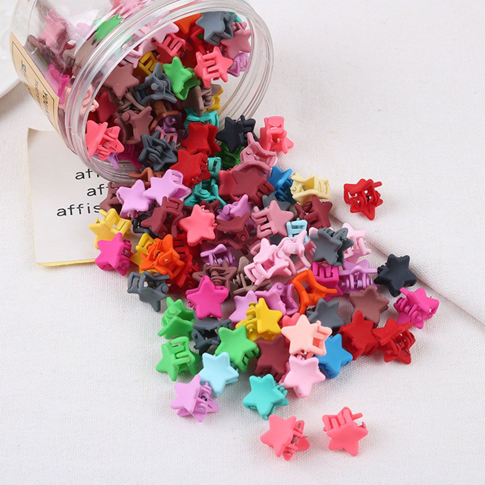 30Pcs/set Summer Candy Color Colorful Star Bead Shaped Hair Claws For Women Popular Small Hair Clip Hair Stick Accessories