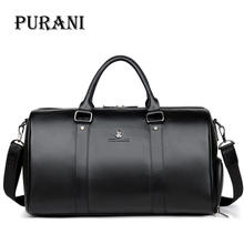 PURANI 100% Genuine Leather Men Travel Bags Overnight Duffel Bag Weekend Travel Large Business Tote Bags Crossbody Travel Bags travel bags