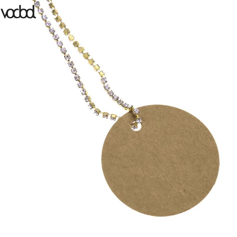 100Pcs Kraft Paper Label Card Round Blank Tag for DIY Gifts Craft Price Luggage Name Tags Hanging Bookmark Etiqueta
