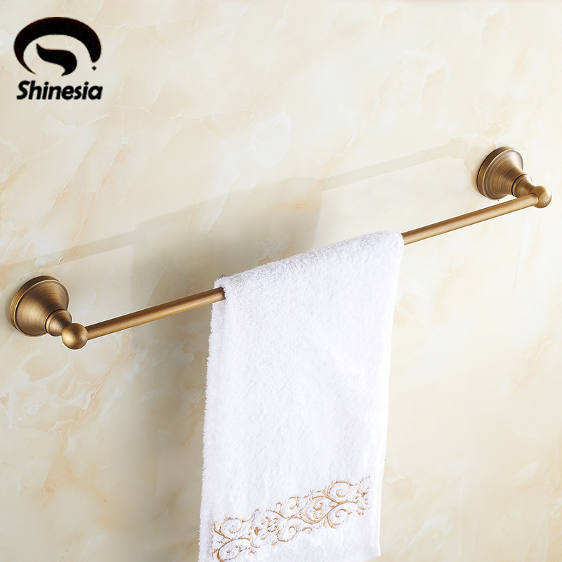 Newly Modern Euro Fashion Solid Brass Bathroom Towel Bar Single Bar Towel Holder Rack Wall Mounted стоимость
