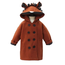 2017 new winter Girls Kids boys thick Plus cashmere hooded coat comfortable cute baby Clothes Children Clothing children autumn and winter warm clothes boys and girls thick cashmere sweaters