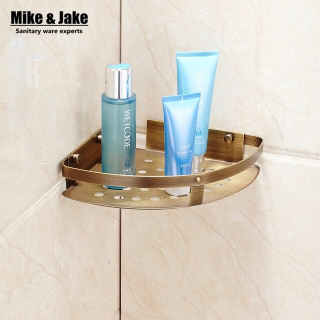 Bad antiken messing eckregal badezimmer duschbad regal halter ...