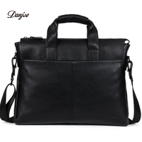 DANJUE Genuine Leather Men Briefcare Brand High Quality Men S Business Handbags Two Color Real Leather