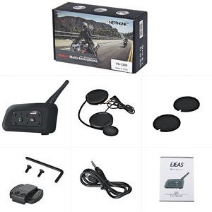 Image 5 - VNETPHONE V6 Intercom Motorcycle Bluetooth Helmet Headset 1.2KM 850mAh IP65 6 Riders MP3 GPS Interphone
