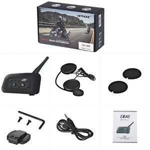 Image 5 - Vnetphone V6 Intercom Motorfiets Bluetooth Helm Headset 1.2Km 850Mah IP65 6 Rijders MP3 Gps Interphone