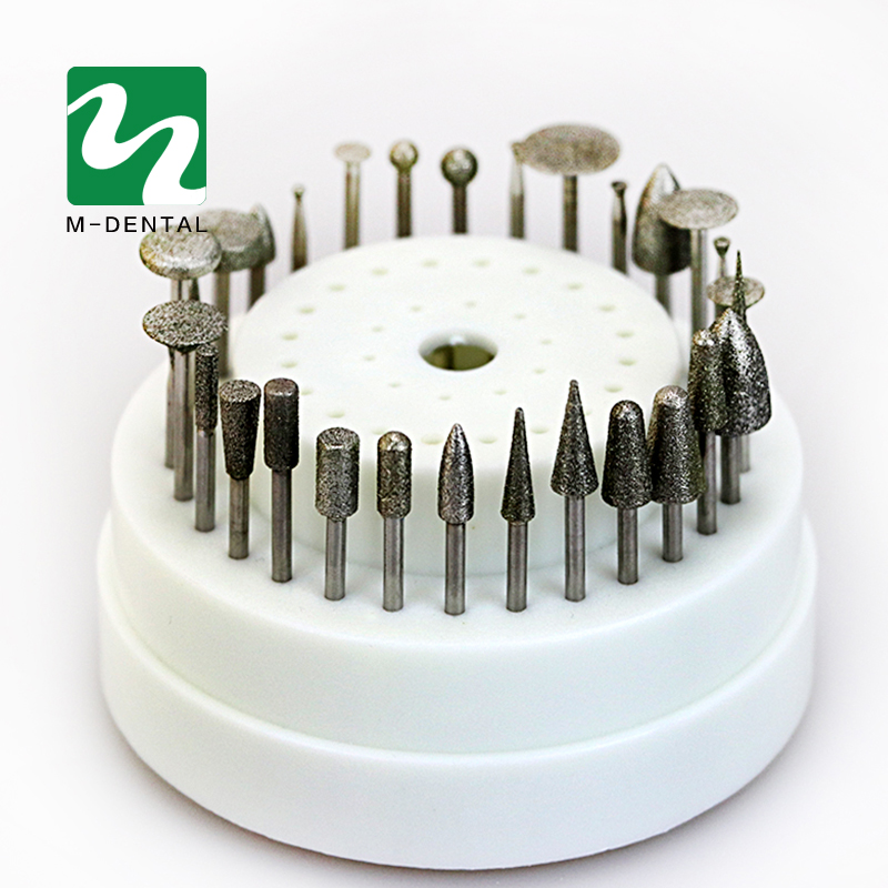 Dental Lab Rotary Tungsten Steel Polishing Burs 30 PCS For Teeth Whitening Dentist Equipment With Box 100 pcs box dental lab materials rubber polishing granule green brown black grey