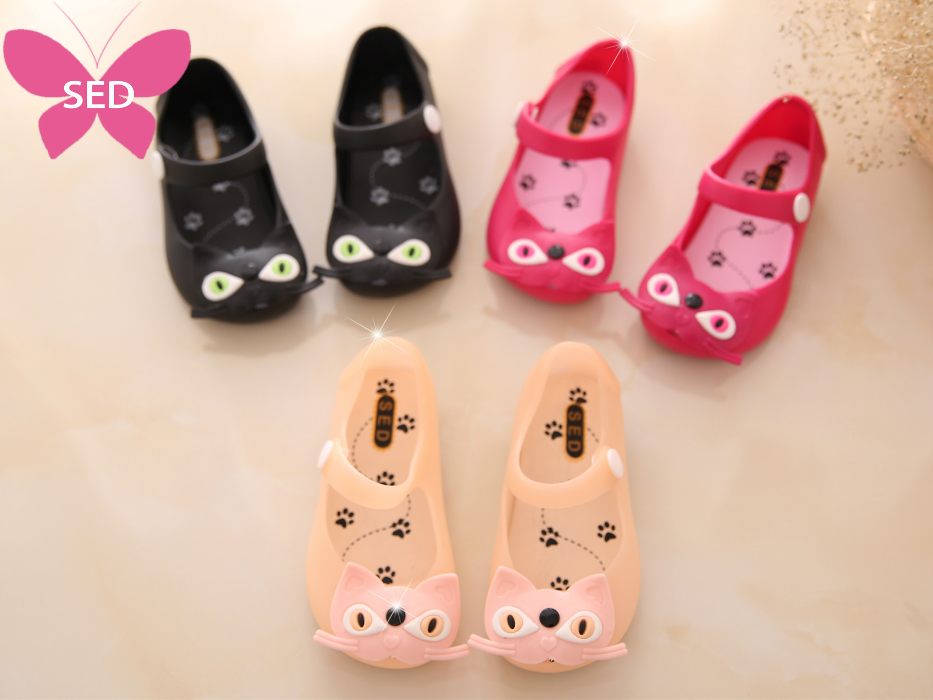 2016 summer new Cat jelly baby girl kids sandals shoes brand