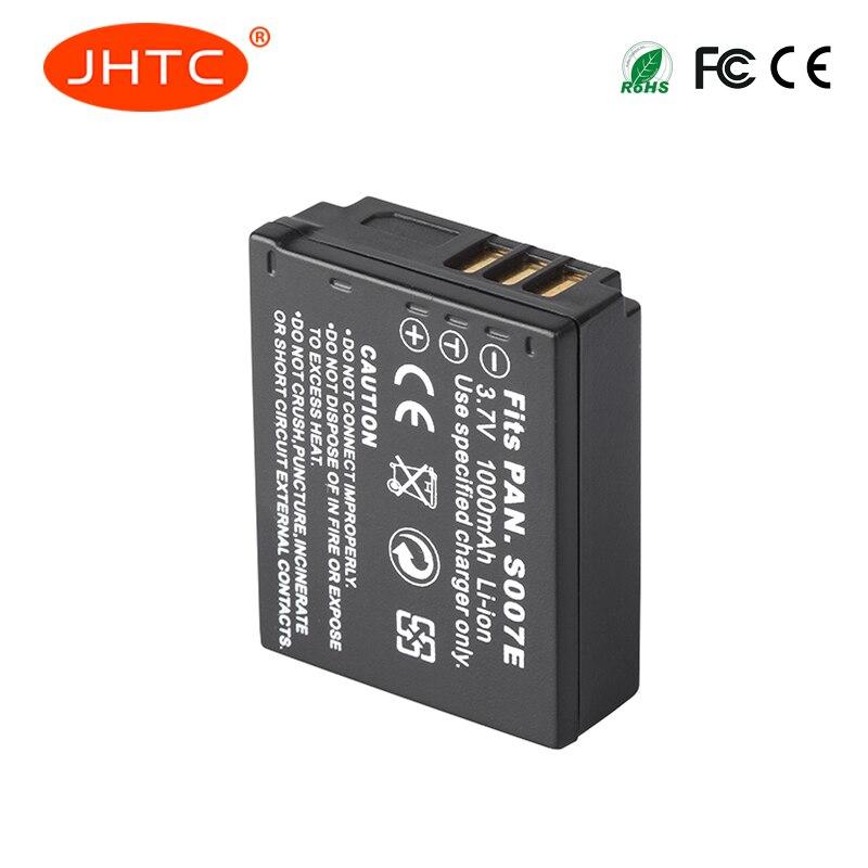 JHTC 1Pc 1000mAh CGA-S007 CGR-S007E Rechargeable Battery For Panasonic Lumix DMC TZ1 TZ2 TZ3 TZ4 TZ5 TZ50 TZ15 Camera BackupJHTC 1Pc 1000mAh CGA-S007 CGR-S007E Rechargeable Battery For Panasonic Lumix DMC TZ1 TZ2 TZ3 TZ4 TZ5 TZ50 TZ15 Camera Backup
