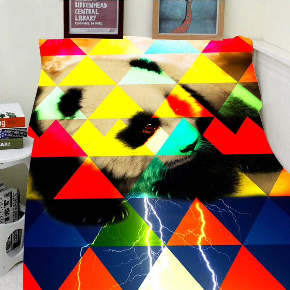 Blankets Warmth Soft Plush Cute Funny Colorful Art Camouflage Cute Panda Sofa Bed Throw a Blanket Thick Thin Cobertor Plaid