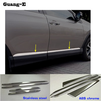 Car stainless steel/ABS Chrome Side Door Body trim stick Strip Molding Stream lamp panel bumper For Toyota RAV4 2016 2017 2018