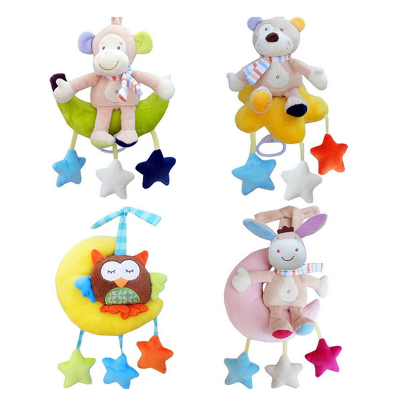 Csecsemő Baba ágyas alvóágy Lágy állatok Majom medve bagoly - Csecsemőjátékok