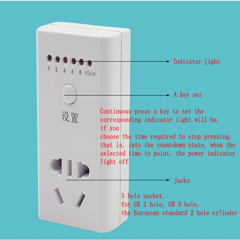 Electronic Countdown Switch Power Timer Chassis Kitchen Smart Electric Car Charger Cell Phone Battery timer switch socket outlet electronic timer kitchen from the definition