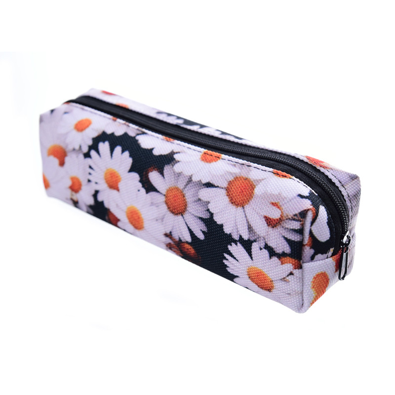 Daisy 3D Printing Cosmetic bag women makeup bag 2018 Fashion New trousse de maquillage pouch travel organizer necessaire