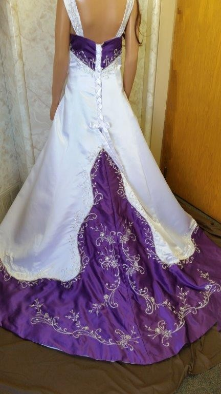 Cap Wedding Dresses White Ivory Blue Green Purple Red Satin ...