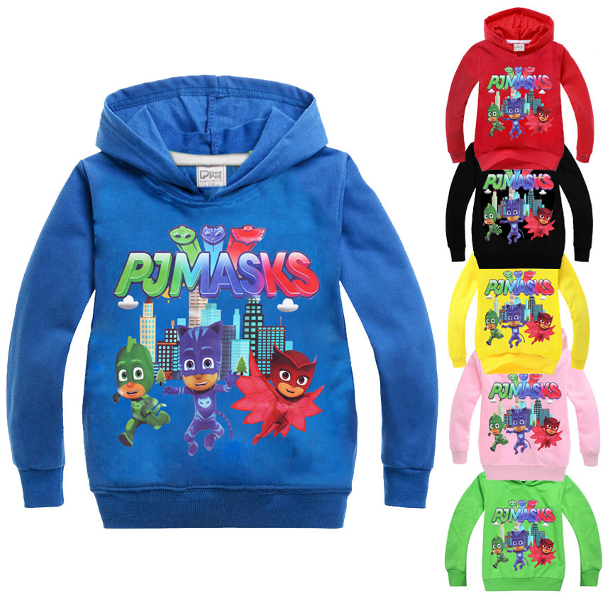 PJ Mask Spring Autumn Boys Hoodies and Sweatshirts 2017 Cartoon Kids Sweatshirt t-shirt boy tshirt clothes boys costume