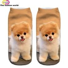 3D Printed Socks Women New Unisex Cute Low Cut Ankle Socks Multiple Colors Women Sock Women's Casual Animal Shape Socks