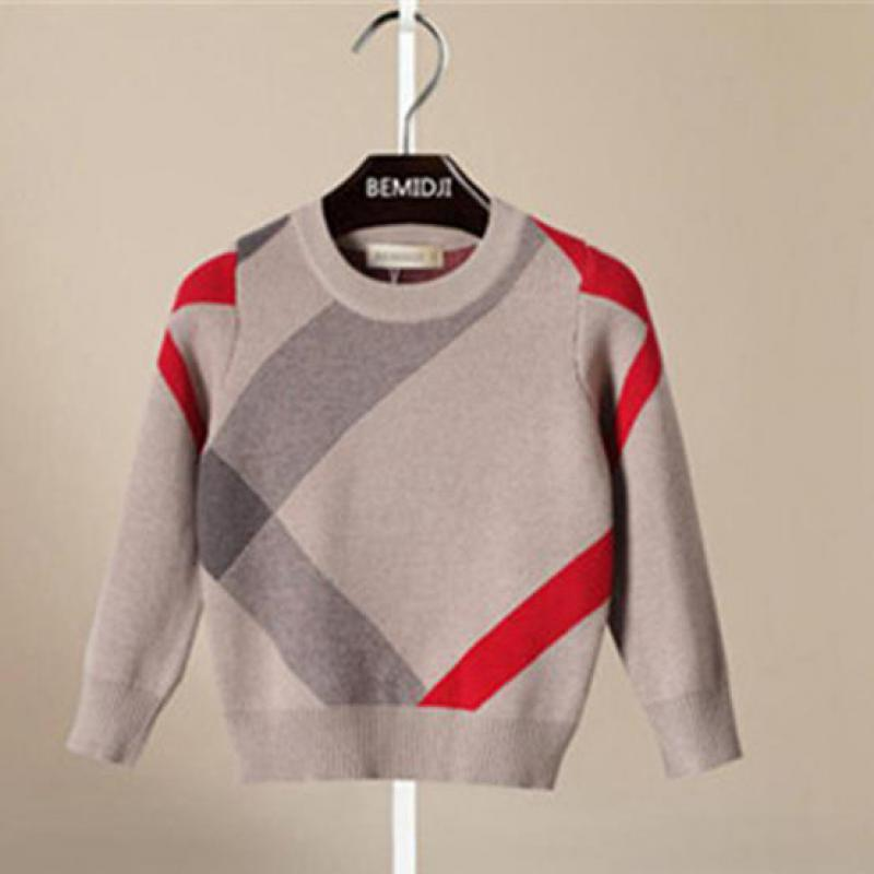 Toddler Boy Sweater Spring Autumn Baby Boys Pullover Wool Coat For Children 1-5 Years