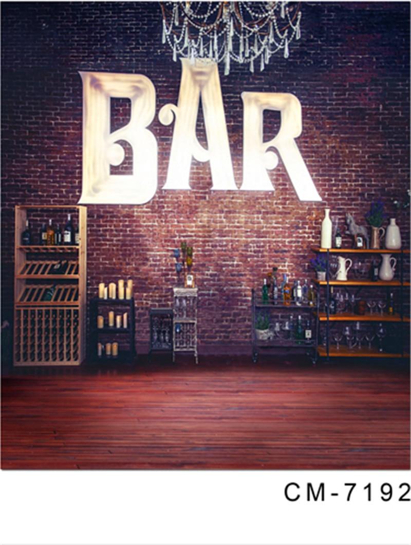Indoor Scenic Bar Achtergrond Voor Fotografie Digitale Gedrukt Foto Achtergrond Wijn Rode Houten Vloer Achtergrond Voor Wedding Party Kwaliteit En Kwantiteit Verzekerd