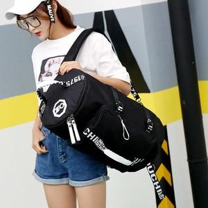 Image 3 - 유명 브랜드 캔버스 여성 여행 가방 여성 대용량 여행 배낭 숙녀 다기능 크로스 바디 가방