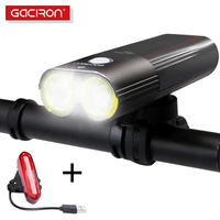 GACIRON Pro Bicycle Light Bike Headlight Power Bank IPX6 Waterproof MTB Road Cycling Flashlight LED Lamp With tail light set
