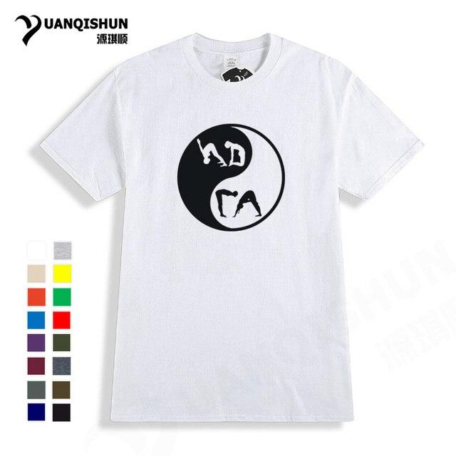 2fa5166529f1 Interesting design Tai Chi Yoga Print Men Tshirt High quality 16 Color  Cotton Women T-shirt fashion boutique Unisex T shirt Tees