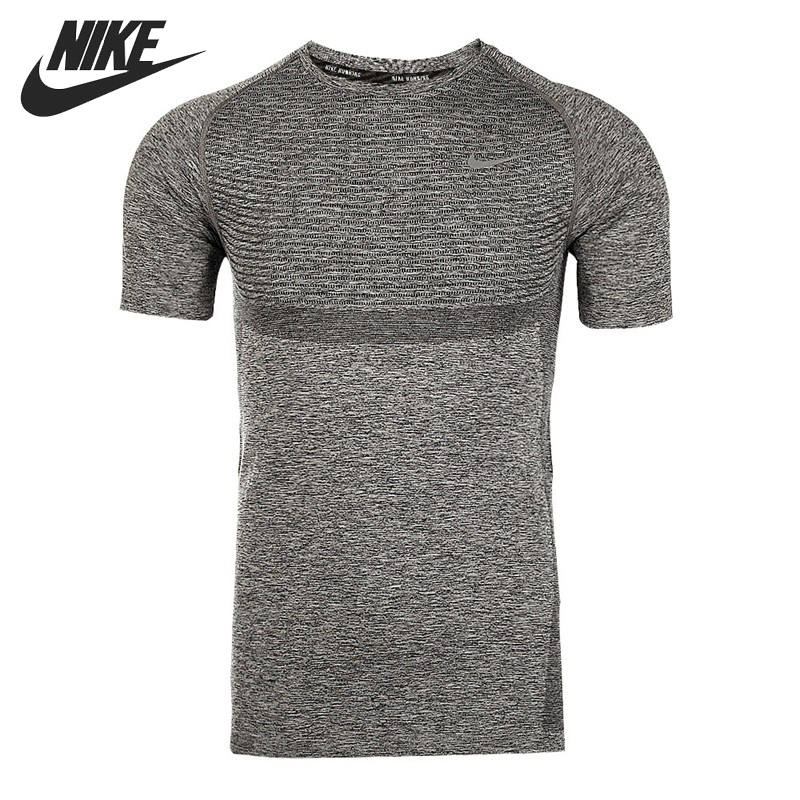 Original NIKE DRI-FIT KNIT SS Men's Running T-shirts short sleeve Sportswear nike nike dri fit home