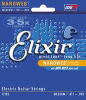 1set Free Shipping 011 049 Elixir 12102 Nanoweb Electric Guitar Strings Super Light Strings Guitar Parts