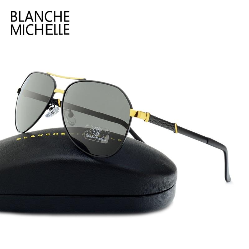 Blanche Michelle 2019 High Quality Pilot Polarized Sunglasses Men UV400 Brand Driving Sun Glasses Male Oculos de sol With Box in Men 39 s Sunglasses from Apparel Accessories