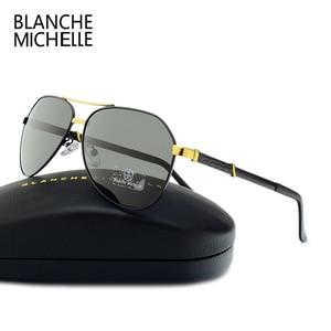 Image 2 - High Quality Pilot Polarized Sunglasses Men UV400 Driving Sun Glasses Mens Vintage Sunglass Man 2020 okulary oculos With Box