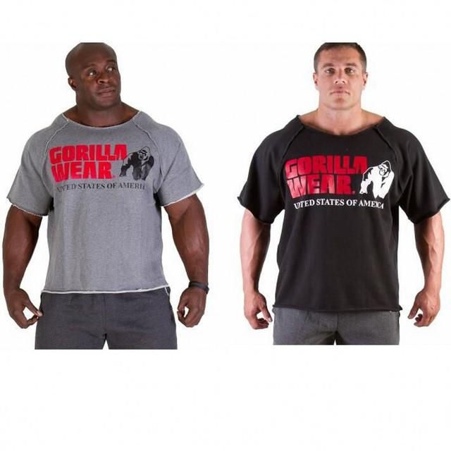 Homens T De Fitness Musculação Gorila Desgaste dos homens Camisa Batwing Manga Pano Topsdam M-XL