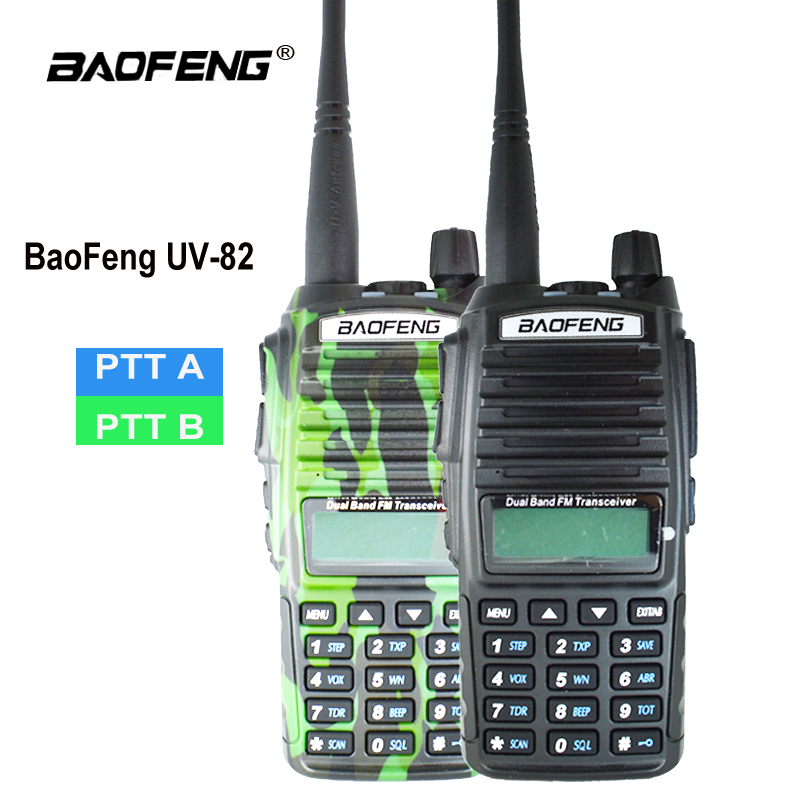 Orginal Baofeng UV-82 Walkie Talkie UV 82 Portable Two way Radio Dual PTT Schinken CB Radio Station VHF UHF UV82 jagd Transceiver