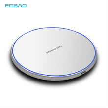 FDGAO 15W Quick QI Wireless Charger For iPhone X XS Max XR 8 Plus Samsung S10 S8 S9/S9+ Note 9 Fast USB Charging Pad