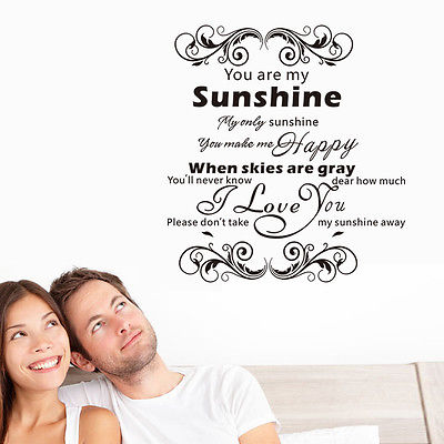 Xcm Beautiful Inspiration Quote Letter You Are My Sunshine - Wall decals you are my sunshine