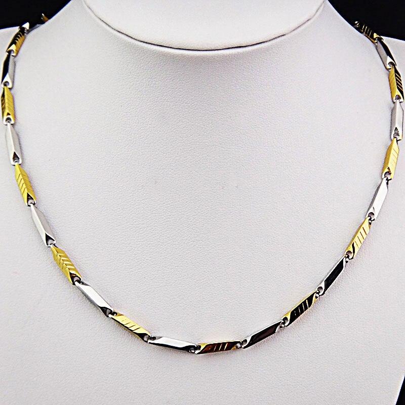 Горячая Распродажа шармы 316L нержавеющая сталь женское мужское ожерелье для костюма модные золотые серебряные ювелирные изделия A-816 - Окраска металла: K