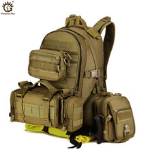Outdoor Military Army Tactical Molle Backpack Camping Hiking Trekking Sport Camouflage Bag Large Travel