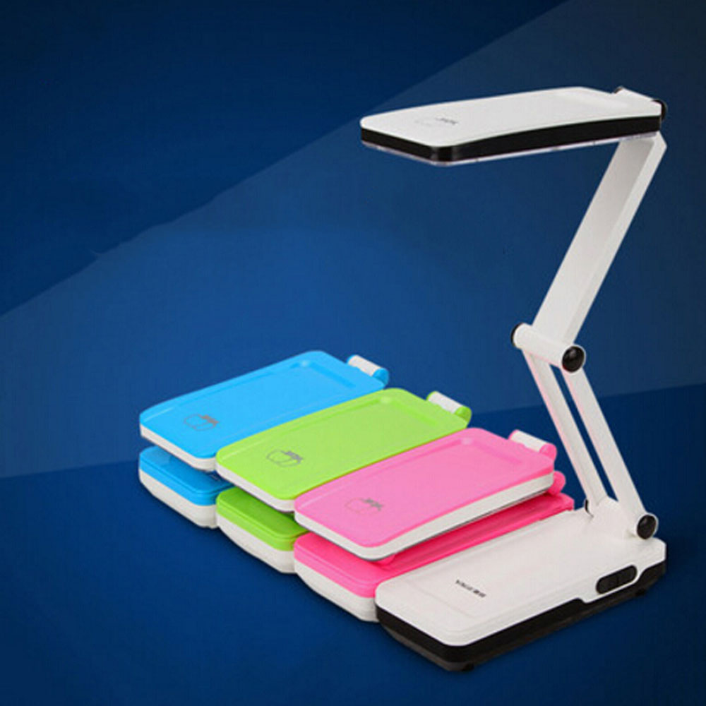 ФОТО Dimmer Switch Led Rechargeable Lamp Four-color Optional 5W Fashion Fold Desk Lamps Bedroom Creative Reading Bed Light