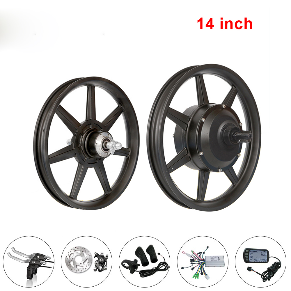 14 inch One Motor Wheel Kit Bicicleta Brushless Gear 36V48V250W Electric Bicycle Motor Drive Wheel Electric Bicycle