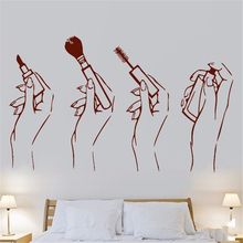 ZN E865 Make Up Beauty Salon Girls Bedroom Wall Art Stickers Decals Vinyl Home Decor hand Mural