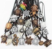 مختلط مجوهرات بالجملة الكثير 25 قطعة تقليد الياك العظام منحوتة محظوظ تصفح البحر السلاحف المعلقات قلادة MN386
