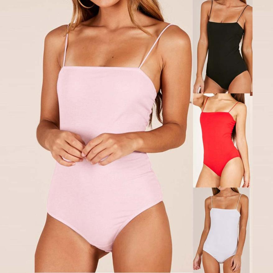 a3b84ad24c07 2018 summer womens romper Camisole Fashion Blackless Sexy Bodycon  Sleeveless Jumpsuit womens summer romper bodysuit x3067