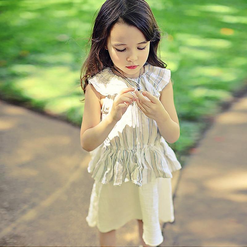 toddlers teenagers dress for girl 2018 summer patchwork sleeveless children clothing girls dresses kids sundress